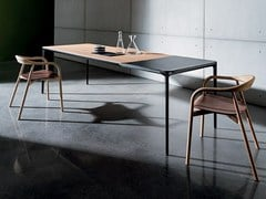 - Extending wooden table SLIM WOOD | Extending table - SOVET ITALIA