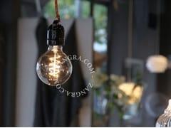 - Lampada a sospensione a luce diretta in porcellana SOCKET 020 | Lampada a sospensione - ZANGRA
