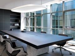 - LED RGB aluminium pendant lamp SOFT SQUARE LIGHT + ACOUSTIC - Sattler