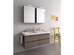 - Wall-mounted vanity unit with drawers SOHO S16 - LEGNOBAGNO
