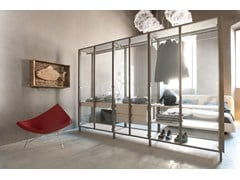 - Glass walk-in wardrobe SOLO | Walk-in wardrobe - ALBED by Delmonte