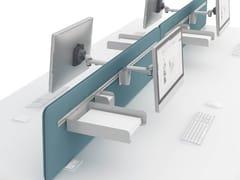 - Sound absorbing workstation screen desktop partition SONIC   Sound absorbing workstation screen - MDD