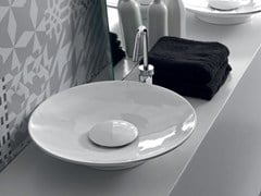 - Countertop round ceramic washbasin SOUL | Countertop washbasin - Hidra Ceramica