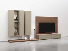 - Sectional wall-mounted lacquered storage wall SPAZIO | MOD. S438 - PIANCA