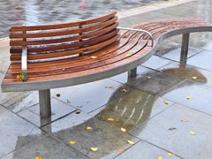 - Curved Bench with back SPLINE TREE | Bench with back - Factory Street Furniture