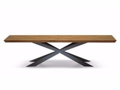 - Rectangular wooden table SPYDER WOOD - Cattelan Italia