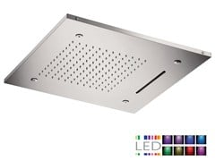 - LED 3-spray stainless steel overhead shower for chromotherapy SQL-09 | Overhead shower for chromotherapy - Rubinetterie Mariani