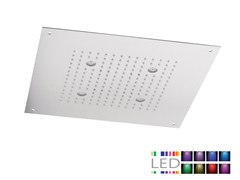 - LED built-in stainless steel overhead shower for chromotherapy SQL-10 | Overhead shower for chromotherapy - Rubinetterie Mariani