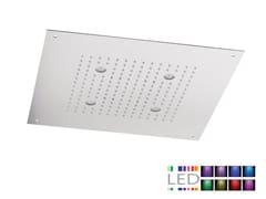 - LED built-in stainless steel overhead shower for chromotherapy SQL-10 | Overhead shower for chromotherapy - Rubinetterie Mariani