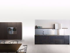 - Linear kitchen SQUARE BURNISHED BLACK - Xera by Arex