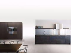 - Cucina lineare SQUARE BRUNITO NERO - Xera by Arex
