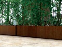 Vaso per spazi pubblici in lamieraSQUARE LINE - GARDA DESIGN