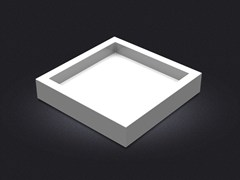 - Square resin tray SQUARE SMALL | Tray - Vallvé Bathroom Boutique