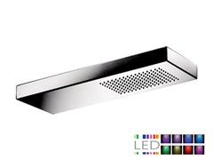 - Contemporary style LED wall-mounted stainless steel rain shower SRL-08 | Overhead shower for chromotherapy - Rubinetterie Mariani