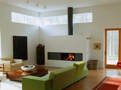 - Wood-burning built-in glass and steel fireplace STÛV 21-105 SF8 - Stûv
