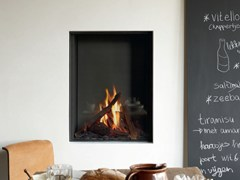 - Gas wall-mounted steel fireplace STÛV B-60 - Stûv