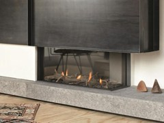 - Gas corner fireplace with panoramic glass STÛV B-95 | Corner fireplace - Stûv