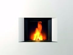 - Wood-burning built-in wall-mounted fireplace STÛV MICROMEGA | Built-in fireplace - Stûv