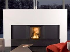 - Wood-burning built-in fireplace with cabinets STÛV MICROMEGA | Fireplace - Stûv