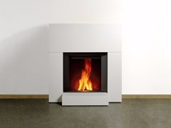 - Wood-burning wall-mounted fireplace STÛV MICROMEGA | Wall-mounted fireplace - Stûv