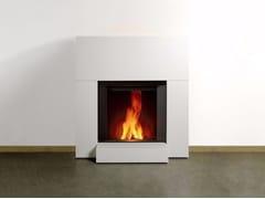 - Wood-burning wall-mounted fireplace STÛV MICROMEGA | Wall-mounted fireplace - Stûv