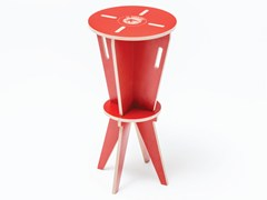 - High lacquered plywood children's footstool ST HOCKER - ST FURNITURE