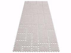 - Solid-color felt rug STAMP | Rectangular rug - HEY-SIGN
