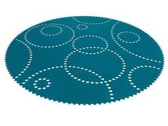 - Solid-color felt rug STAMP | Round rug - HEY-SIGN