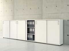 - Low office storage unit with sliding doors STANDARD | Low office storage unit - MDD