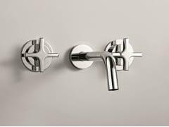 - 3 hole wall-mounted washbasin tap STARFLÒ | Wall-mounted washbasin tap - Signorini Rubinetterie