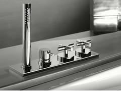 - 4 hole bathtub set with hand shower STARFLÒ   4 hole bathtub set - Signorini Rubinetterie
