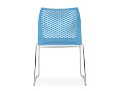 - Sled base stackable chair STEP | Sled base chair - Quinti Sedute