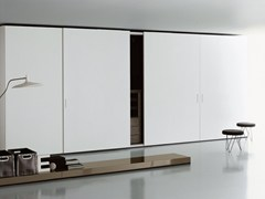 - Wooden wardrobe with coplanar doors STORAGE | Wardrobe with coplanar doors - Porro