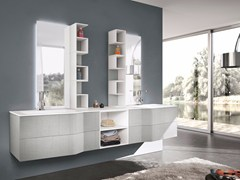 - Double wall-mounted vanity unit with mirror STR8 ALDANY - GRUPPO GEROMIN