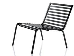 - Powder coated steel garden armchair STRIPED | Easy chair - Magis