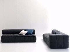 - Upholstered fabric sofa bed STRIPS | Sofa bed - arflex