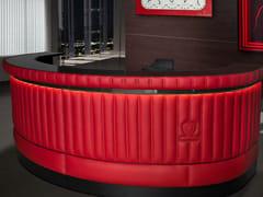- Round leather reception desk with Built-In Lights SUZUKA | Round reception desk - Tonino Lamborghini Casa by Formitalia Group