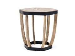 - Round teak garden side table SWING | Round coffee table - Ethimo