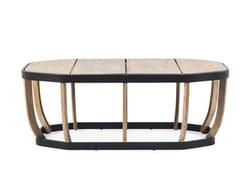 - Low oval teak garden side table SWING | Low coffee table - Ethimo