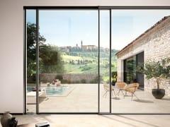 Sistema scorrevole panoramico in alluminioSchüco ASE 67 PD - SCHÜCO INTERNATIONAL ITALIA
