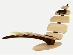 Chaise longue artigianale in frassino realizzata a manoT-RELAX - XILTRADE