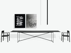 Tavolo rettangolare in acciaio e legnoT.T.A. - MA/U STUDIO