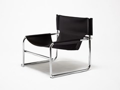 POLTRONCINA A SLITTA IN CUOIO T1 - 1965 BY OMK DESIGN
