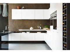 - Kitchen with peninsula T30 | Corian® kitchen - TM Italia Cucine