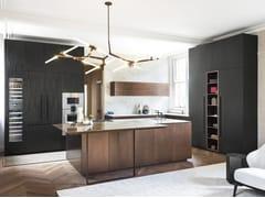 Cucina in pietra e rovere bruno K6 ∙ D90 - TM Italia Cucine