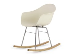 - Rocking polypropylene easy chair TA Er Chrome | Poltroncina a dondolo - KUBIKOFF