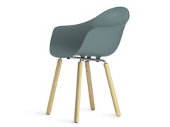 - Contemporary style steel guest chair with armrests TA Yi Natural | Poltroncina - KUBIKOFF