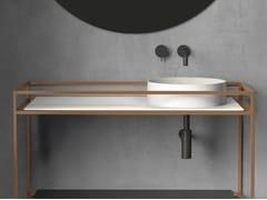 Piano lavabo singolo in ceramicaTABULAE - GALASSIA