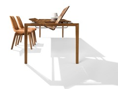 - Contemporary style extending rectangular wooden dining table TAK | Solid wood table - TEAM 7 Natürlich Wohnen