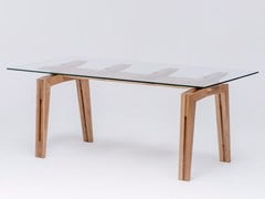 - Tavolo da pranzo rettangolare in legno e vetro TAMAZO AIR - ST FURNITURE